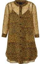 Anna Sui Printed Georgette Mini Dress