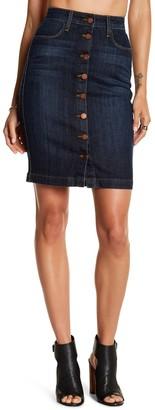 Fidelity Collete High Cigarette Denim Skirt
