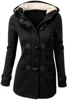 LAKAYA Womens Wool Outerwear Classic Plus Size Pea Coat Jacket with Hood