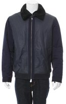 Vince Leather Shearling Collar Jacket w/ Tags