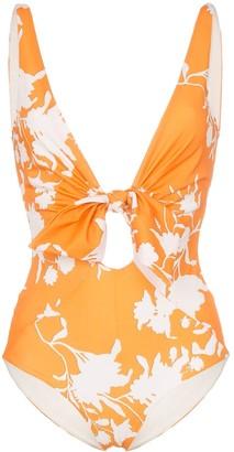 Johanna Ortiz Fable of the Tropics V-neck bow swimsuit