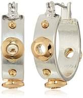 Kenneth Cole New York Rivet Small Hoop Earrings