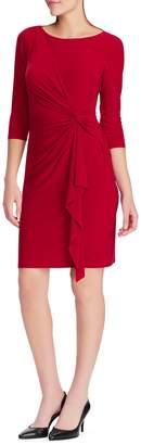 Chaps Three-Quarter-Sleeve Day Dress