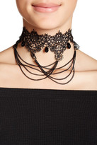 Cara Accessories Lace Drape Choker