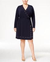 MICHAEL Michael Kors Size Studded Wrap Dress