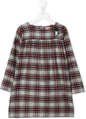 Douuod Kids Plaid Print Dress
