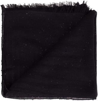 Brunello Cucinelli Black Cashmere, Silk, and Paillette Scarf