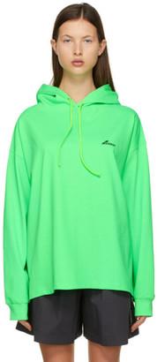 we11done Green Logo Hoodie