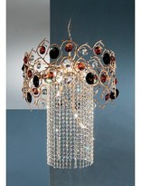 Foresta Colorita 8 - Light Unique / Statement Geometric Chandelier with Crystal Accents Classic Lighting Finish: Natural Bronze, Crystal Type: Amber G