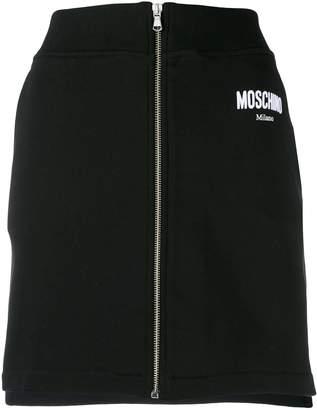 Moschino zip-through mini skirt