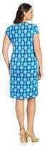 Jones New York Signature Medallion Faux-Wrap Dress