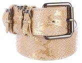 Versace Leather Buckle Belt