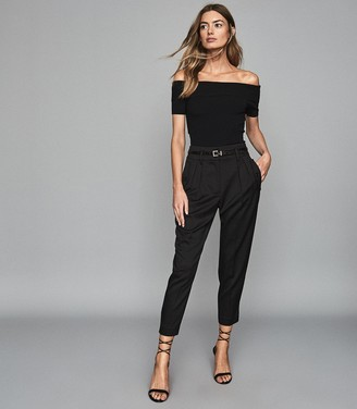 Reiss Matilda - Bardot Bodycon Top in Black