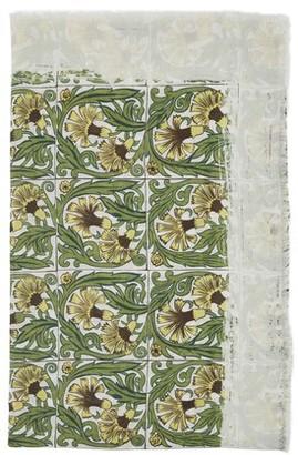 Loewe Anagram logo scarf with Flowers print