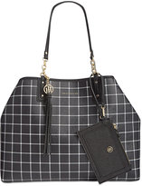 Tommy Hilfiger Reversible Double-Sided Tassel Tote