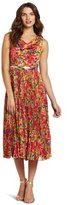 Eliza J Women's Pleated Floral Dress