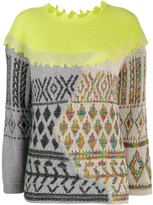 Antonio Marras mix fabric sweater