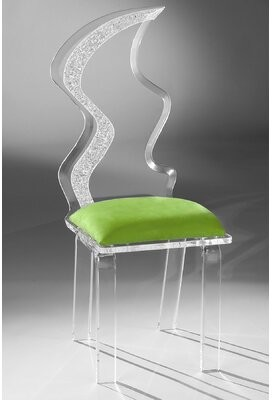 clear Koge Upholstered Side Chair in Latitude Run Upholstery Color: Lime