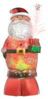 """Midwest Mid-West 9.25"""" Santa Claus Classic with Fiber Optic Tree Glitterdome Table Topper"""