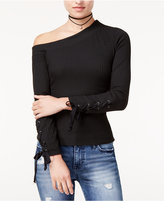 The Edit By Seventeen Juniors' One-Shoulder Ribbed Top