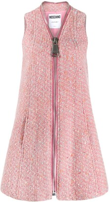 Moschino Sleeveless Tweed Dress