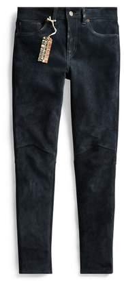 Ralph Lauren Stretch Suede Skinny Jean