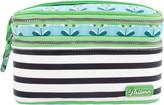Pattern Petal Stripes Double Zip Train Case