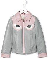 Fendi Bag Bugs print jacket - kids - Cotton/Leather/Polyester/Viscose - 6 yrs