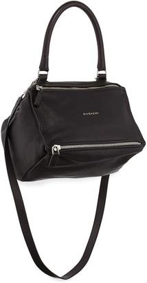 Givenchy Pandora Small Sugar Leather Shoulder Bag, Black