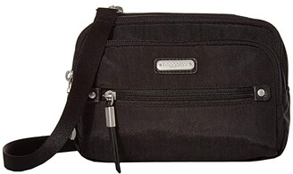 Baggallini New Classic Time Zone RFID Crossbody Bag (Black) Cross Body Handbags