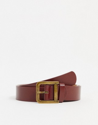 Johnny Loves Rosie D buckle belt in red