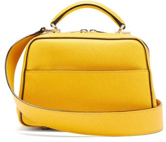 Valextra Serie S Small Grained-leather Bag - Yellow