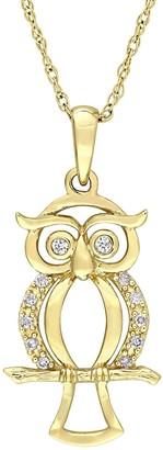 Stella Grace 10k Gold Diamond Accent Owl Necklace