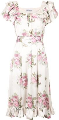 Paco Rabanne Rochie floral midi dress