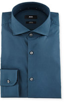 HUGO BOSS Jery Slim-Fit Solid Dress Shirt, Teal