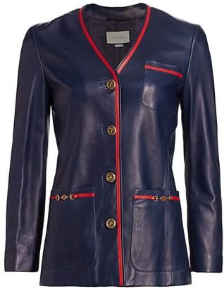 Gucci French Plonge Leather Jacket