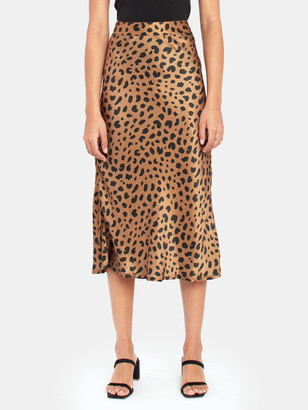 DL1961 Bank St Leopard Midi Skirt