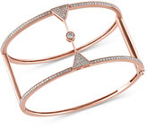 Effy Pave Rose by Diamond Bangle (1-1/2 ct. t.w.) in 14k Rose Gold