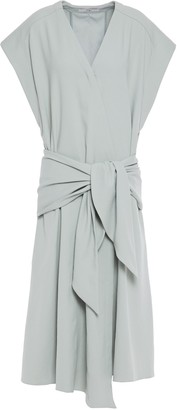 Tibi Tie-front Stretch-jersey Midi Dress