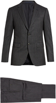 Lanvin Attitude-fit Prince of Wales-checked wool suit