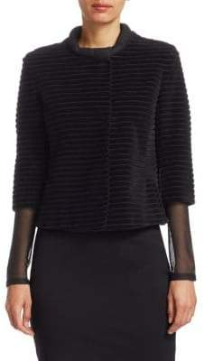 Akris Punto Cropped Velvet Jacket