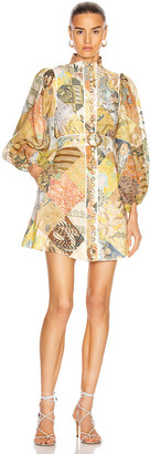 Zimmermann Brightside A-Line Mini Dress in Batik Patch | FWRD