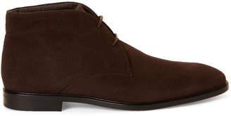 Tod's Dark Brown Suede Chukka Boots