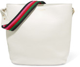 Sara Battaglia Lucy Textured-leather Bucket Bag - White