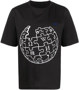 Études Unity Sphere Wikipedia graphic-print T-shirt