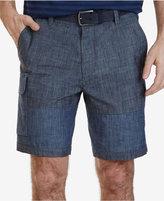 """Nautica Men's 9"""" Chambray Cargo Shorts"""