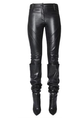 Alberta Ferretti leather trousers