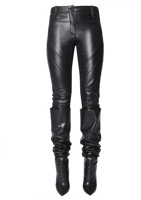 Alberta Ferretti Leather Trousers