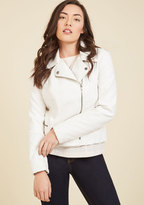 BB Dakota Means to an Edge Jacket in White in M