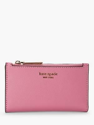 Kate Spade Sylvia Slim Leather Bi-Fold Purse, Pink